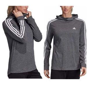 Adidas light weight grey hoodie NWT Small
